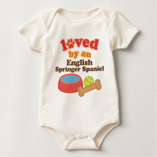 Loved By An English Springer Spaniel (Dog Breed) Baby Bodysuit