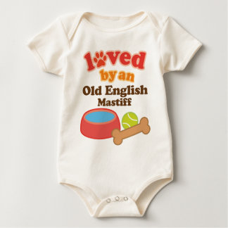 Loved By An Old English Mastiff (Dog Breed) Baby Bodysuit