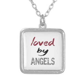 Loved By Angels Silver Plated Necklace
