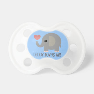 Loved By Daddy Heart Elephant Pacifier