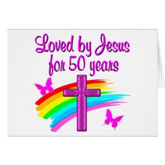 LOVED BY GOD 50TH BIRTHDAY DESIGN CARD