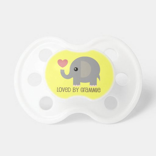 Loved By Grammie Heart Elephant Pacifier