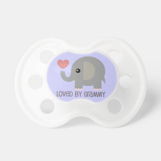 Loved By Grammy Heart Elephant Pacifier