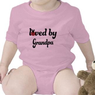 Loved By Grandpa Gift T-shirts