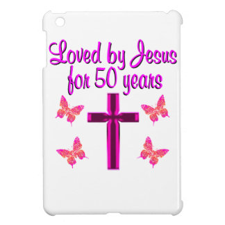 LOVED BY JESUS FOR 50 YEARS iPad MINI COVERS