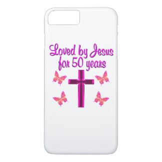 LOVED BY JESUS FOR 50 YEARS iPhone 8 PLUS/7 PLUS CASE