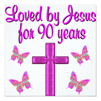 LOVED BY JESUS FOR 90 YEARS CARD