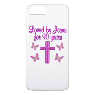 LOVED BY JESUS FOR 90 YEARS iPhone 8 PLUS/7 PLUS CASE