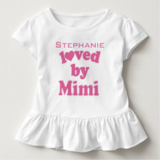 Loved By Mimi Personalized Grandchild T-shirt