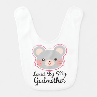 Loved By My Godmother Girls Infant Bib
