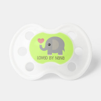 Loved By Nana Heart Elephant BooginHead Pacifier