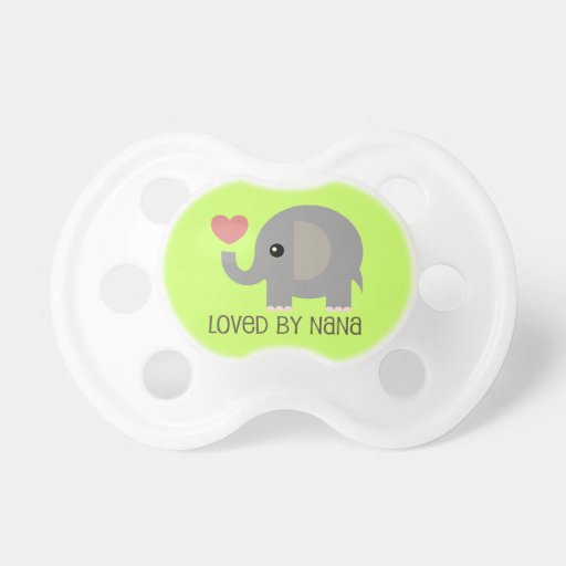 Loved By Nana Heart Elephant Pacifier