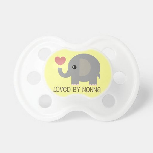 Loved By Nonna Heart Elephant Baby Pacifiers