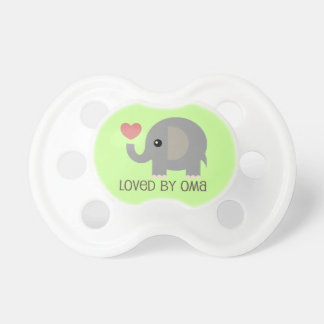 Loved By Oma Heart Elephant BooginHead Pacifier
