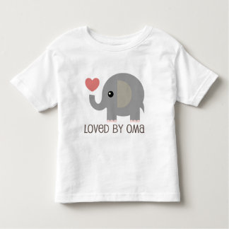 Loved By Oma Heart Elephant Toddler T-shirt