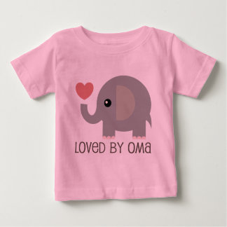 Loved By Oma Heart Elephant Tees