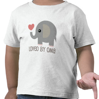 Loved By Oma Heart Elephant Tshirts