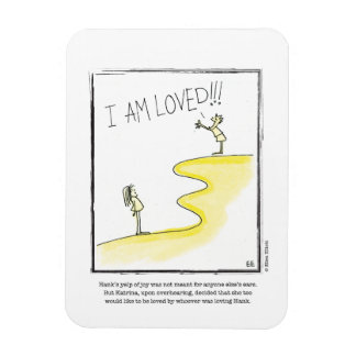 LOVED cartoon by Ellen Elliott Rectangular Photo Magnet