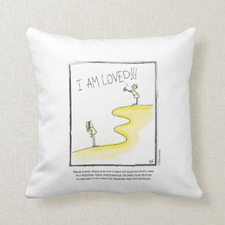 LOVED cartoon by Ellen Elliott Throw Pillow