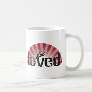 loved classic white coffee mug