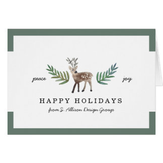 Loved Dearly Corporate Holiday Greeting Card