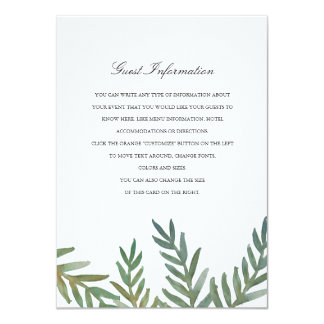 Loved Dearly Directions/Information Card