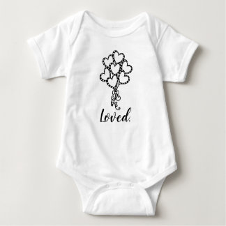 Loved. Heart Balloons Baby Shirt