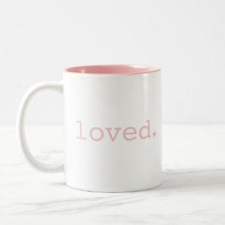 Loved Light Pink Blush Mug