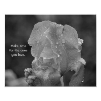 Loved Ones Black and White Flower Poster