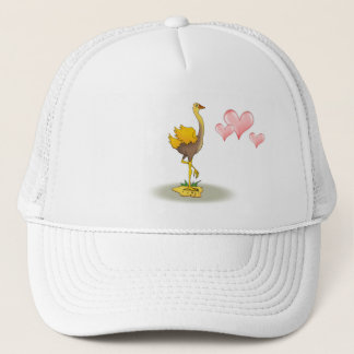 Loved ostrich with big heart - Hat