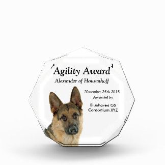 Loved & Protected by a German Shepherd Acrylic Award
