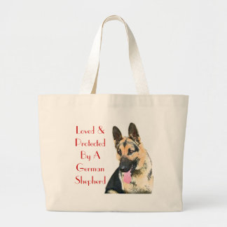 Loved & Protected By A German Shepherd Canvas Bags
