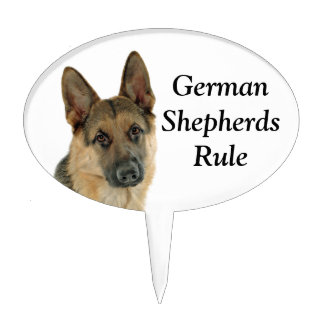 Loved & Protected by a German Shepherd Cake Topper