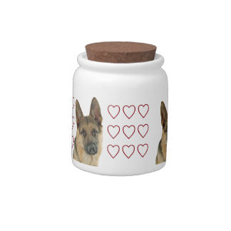 Loved & Protected by a German Shepherd Candy Dishes
