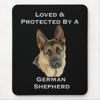 Loved Protected By A German Shepherd Mousepads