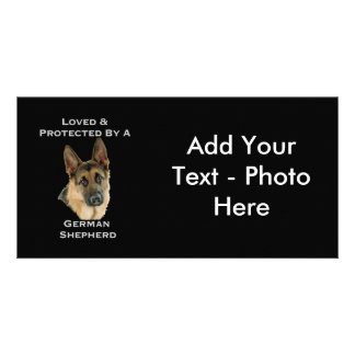 Loved & Protected By A German Shepherd Customized Photo Card