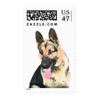 Loved & Protected By A German Shepherd Postage