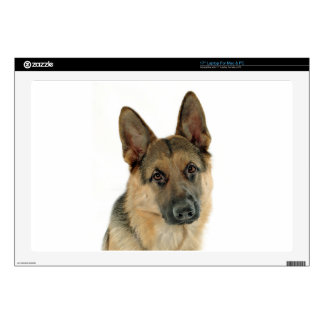 "Loved & Protected by a German Shepherd Decals For 17"" Laptops"