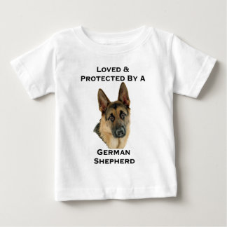 Loved & Protected By A German Shepherd T-shirts
