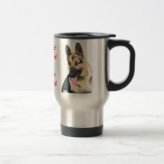 Loved & Protected By A German Shepherd Travel Mug