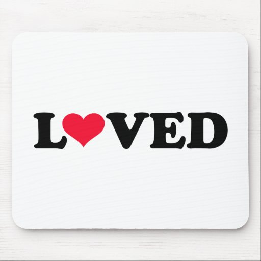 Loved red heart mouse pad