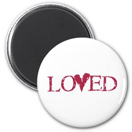 Loved Red Refrigerator Magnet