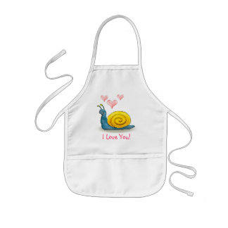 Loved snail with big heart - Apron template