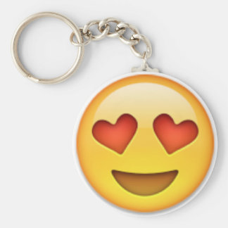 Loved-up Keyring Basic Round Button Keychain