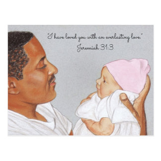 Loved you~Everlasting Love~Dad & Baby Postcard