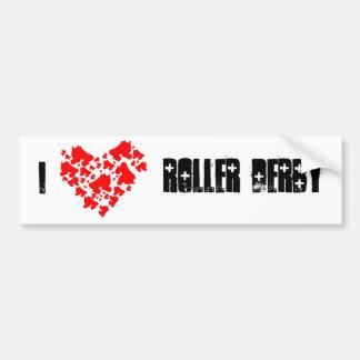 loveDerby, I, Roller Derby Bumper Sticker
