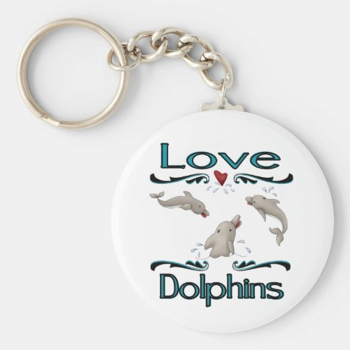 LoveDolphins Llavero Redondo Tipo Pin