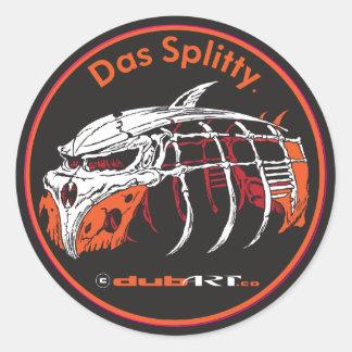LoveDubArt Das Splitty sticker decal graphic