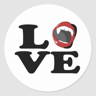 lovefangs classic round sticker