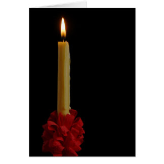 Lovefeast Candle Blank Notecard Greeting Card